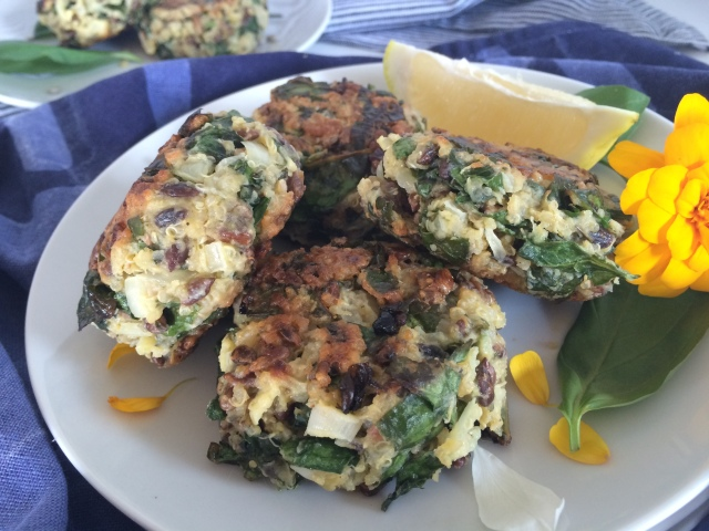 Quinoa, Spinach and Sunflower Seed Patties | Lynne's ...